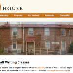 WriterHouse web site Charlottesville Virginia