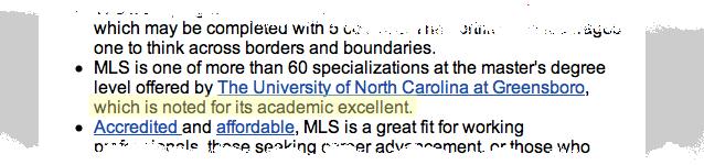 Academic excellent